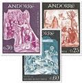 nr. 184/186 -  Stamp Andorra Mail