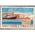 n.o 406 -  Sello San Pedro y Miquelón Correos