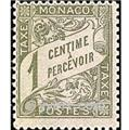 nr. 1 -  Stamp Monaco Revenue stamp