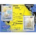 n.o 22 -  Sello Polinesia Bloque y hojitas