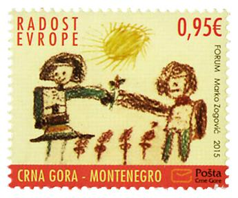 n° 374 - Timbre MONTENEGRO Poste