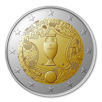 2 EURO COMMEMORATIVE 2016 : FRANCE (Euro 2016)