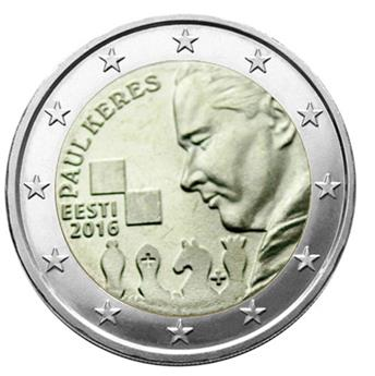 2 EUROS COMMEMORATIFS 2016 : ESTONIE ( Paul Keres)