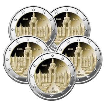 2 EUROS COMMEMORATIFS 2016 : ALLEMAGNE (5 pièces)