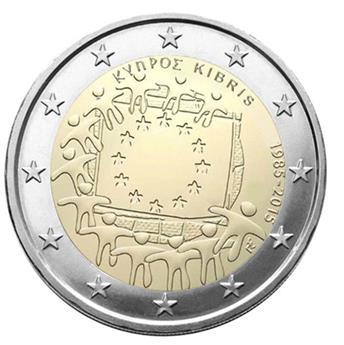 2 EURO COMMEMORATIVE 2015 : CHYPRE (30E ANNIVERSAIRE DU DRAPEAU EUROPEEN)