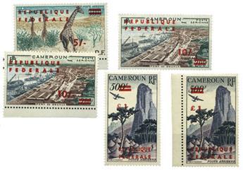 n°49/51** (PA) et 50b**, 51a** - Timbre Cameroun Poste et Poste aérienne