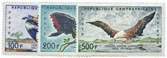 n°1/3* - Timbres République Centrafricaine Poste aérienne