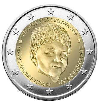 2 EUROS COMMEMORATIFS 2016 : BELGIQUE (Child Focus)
