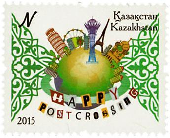 n° 727 - Timbre KAZAKHSTAN Poste