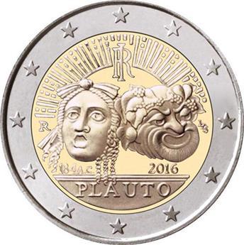2 EUROS COMMEMORATIFS 2016 : ITALIE (Maccio Plaute)