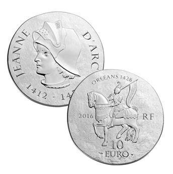 10 EUROS ARGENT - FRANCE - JEANNE D´ARC