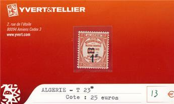 ALGERIE - Taxe n° 23*