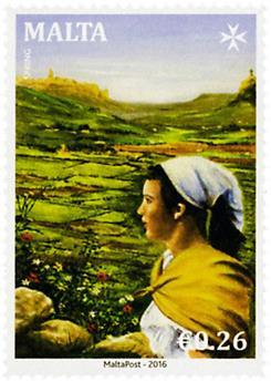 n° 1848 - Timbre MALTE Poste