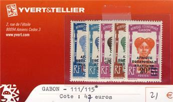 GABON - n° 111/115*