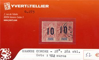 GRANDE COMORE - n° 28*/28A Obl.