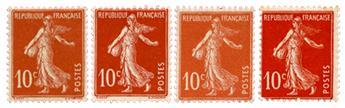 n°138, 138a, 138b, 138c* - Timbre France Poste