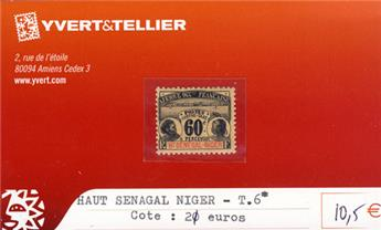 HAUT SENEGAL - NIGER - Taxe n° 6*