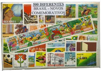 Brésil : 500 timbres différents neuf**