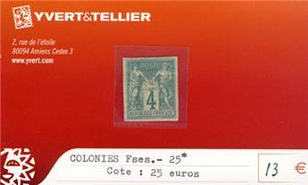 COLONIES FRANCAISES - n° 25*