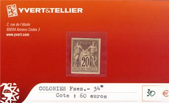 COLONIES FRANCAISES - n° 34*