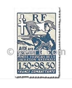 n° 6a -  Timbre France Libre