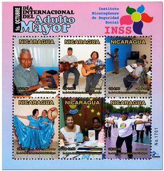 n° 324 - Timbre NICARAGUA Blocs et feuillets