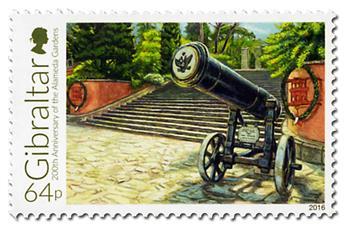 n° 1742 - Timbre GIBRALTAR Poste