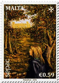 n° 1847 - Timbre MALTE Poste