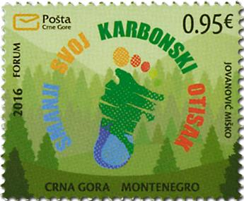 n° 385 - Timbre MONTENEGRO Poste