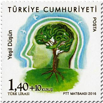 n° 3790 - Timbre TURQUIE Poste