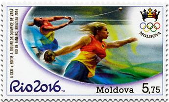 n° 842 - Timbre MOLDAVIE Poste