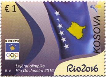 n° 211/212 - Timbre KOSOVO Poste