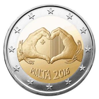 2 EUROS COMMÉMORATIFS 2016 : MALTE (L´Amour)