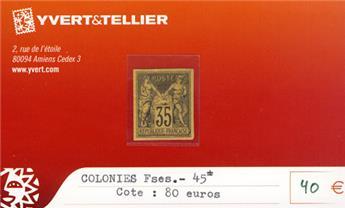 COLONIES FRANCAISES - n° 45*