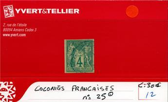 COLONIES FRANCAISES - n° 25 Obl.