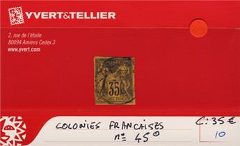 COLONIES FRANCAISES - n° 45 Obl.