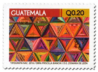 n° 725 - Timbre GUATEMALA Poste