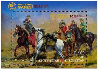 n° 66 - Timbre KIRGHIZISTAN (Poste Kirghize) Blocs et feuillets