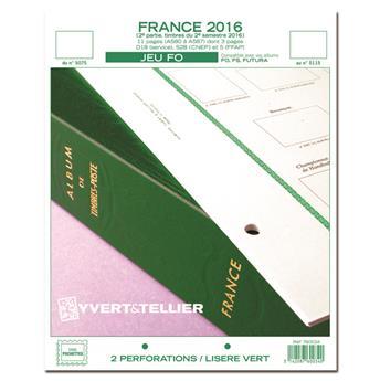 FRANCE FO : 2016 - 2E SEMESTRE (jeux sans pochettes)