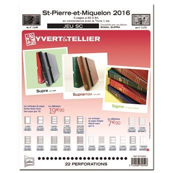 SAINT PIERRE ET MIQUELON SC : 2016 (jeux avec pochettes)