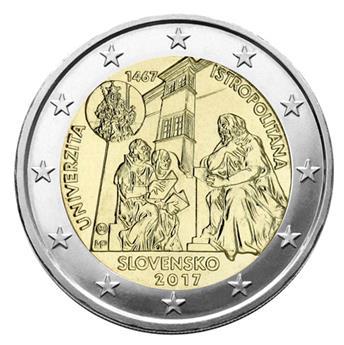 2 EUROS COMMEMORATIFS 2017 : SLOVAQUIE (Université Istropolitana)