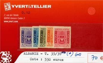 ALBANIE - Taxe 35/39 (*) GNO