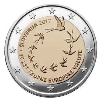 2 EUROS COMMEMORATIFS 2017 : SLOVENIE (Introduction de l'euro en Slovénie)