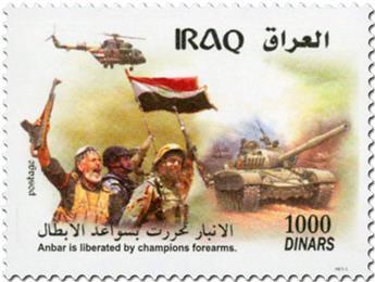 n° 1812 - Timbre IRAK Poste