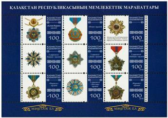 n° 738 - Timbre KAZAKHSTAN Poste