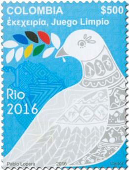 n° 1772 - Timbre COLOMBIE Poste
