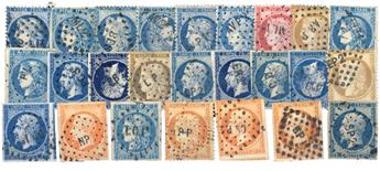 France : 25 timbres (dont n°46 x4)