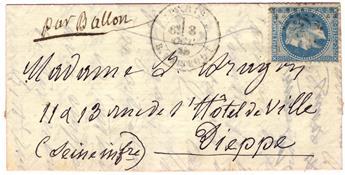 "France : Ballon Monté ""Le Washington"" n°29 obl."