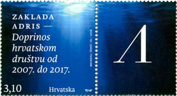 n° 1157 - Timbre CROATIE Poste