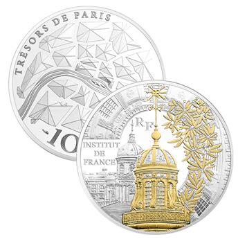 10 EUROS - ARGENT - FRANCE - INSTITUT DE FRANCE BE 2016